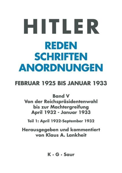 April 1932 - September 1932 als Buch