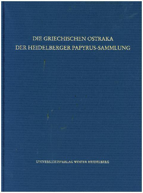 Die griechischen Ostraka der Heidelberger Papyrus-Sammlung als Buch