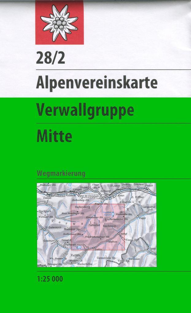 DAV Alpenvereinskarte 28/2 Verwallgruppe - Mitte 1 : 25 000 als Buch