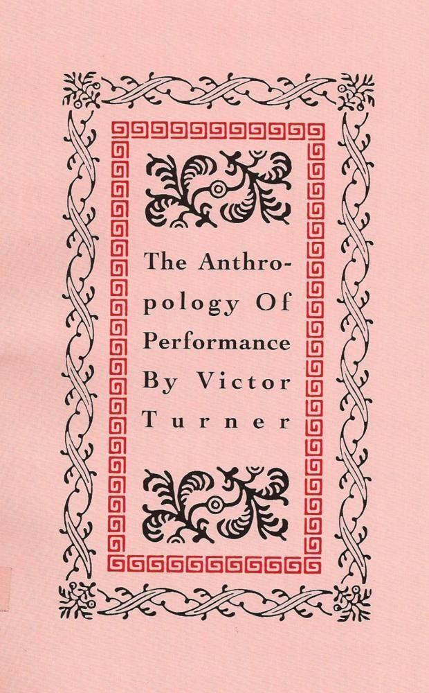 The Anthropology of Performance als Taschenbuch
