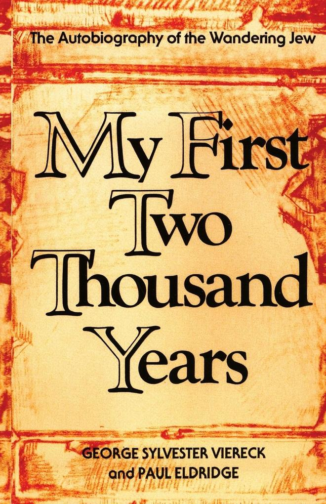 My First Two Thousand Years: The Autobiograpy of the Wandering Jew als Taschenbuch