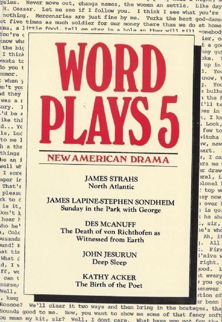 Wordplays Five: New American Drama als Taschenbuch