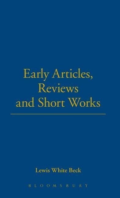 Early Articles, Reviews and Short Works als Buch