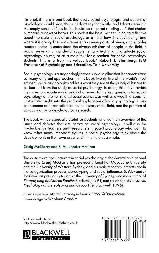 Message of Social Psychology als Buch
