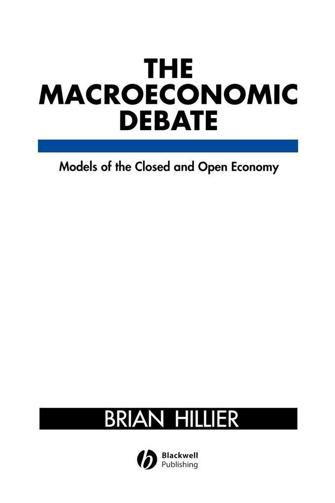 Macroeconomic Debate als Taschenbuch