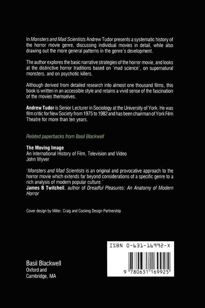 Monsters and Mad Scientists als Taschenbuch