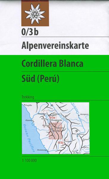 DAV Alpenvereinskarte 0/3B Cordillera Blanca Südteil 1 : 100 000 als Buch