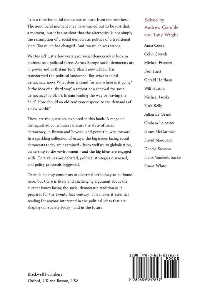 The New Social Democracy als Taschenbuch
