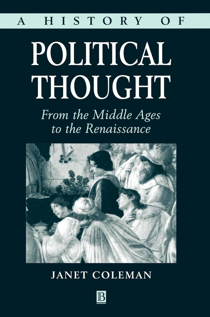 History Political Thought als Buch
