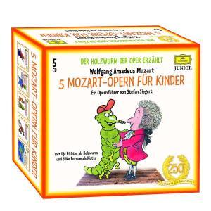 5 Mozart-Opern für Kinder. Der Holzwurm der Oper erzählt. 5 CDs als CD