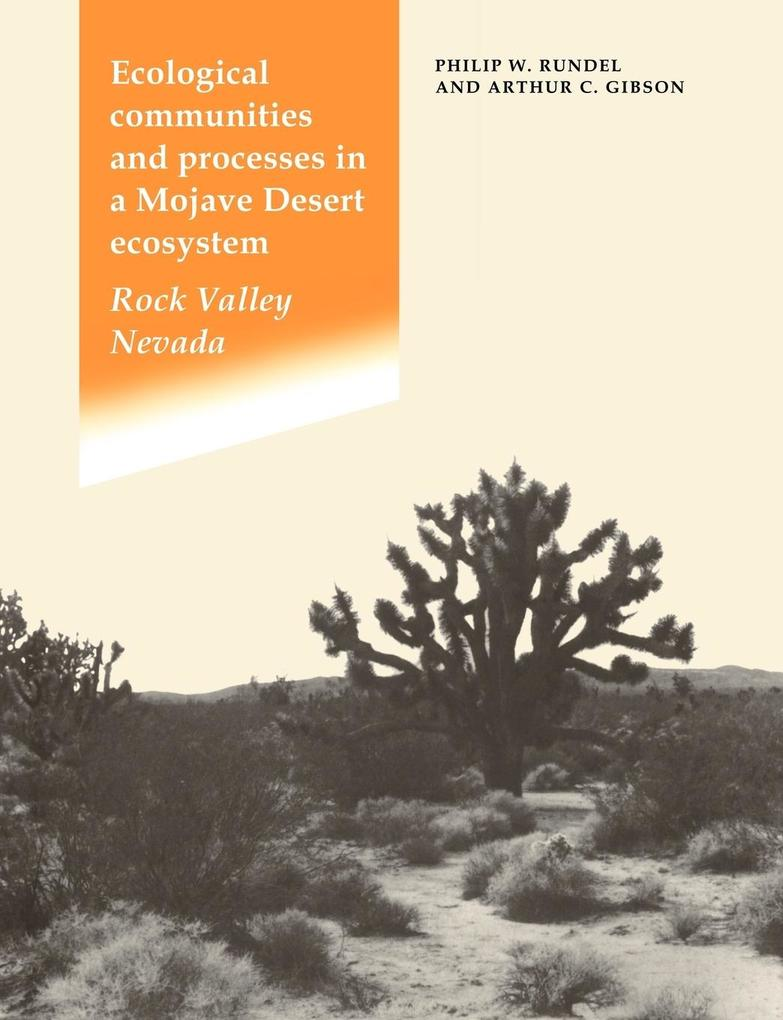 Ecological Communities and Processes in a Mojave Desert Ecosystem als Buch