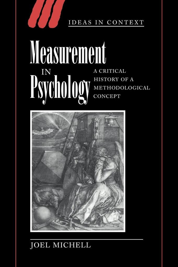 Measurement in Psychology: A Critical History of a Methodological Concept als Buch