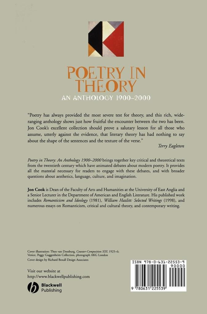 Poetry in Theory als Buch