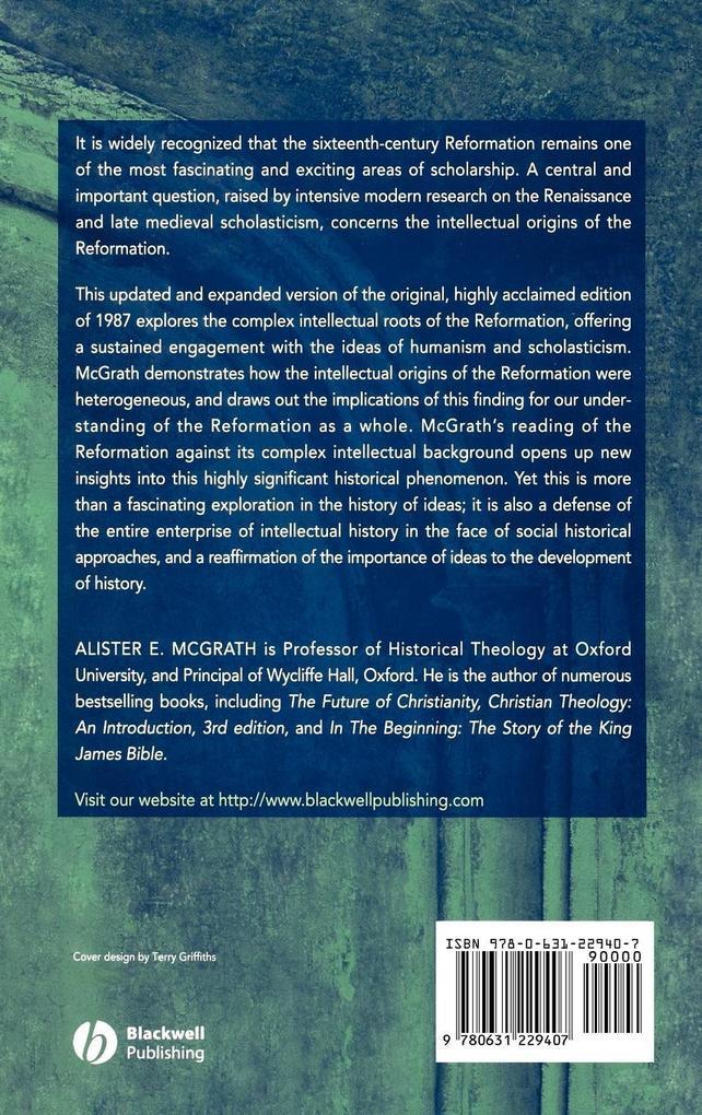 Intellectual Origins Reformation 2e C als Buch