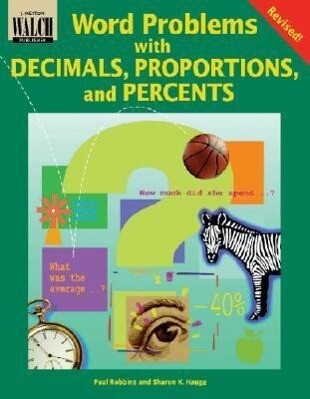 Word Problems with Decimals, Proportions, and Percents als Taschenbuch