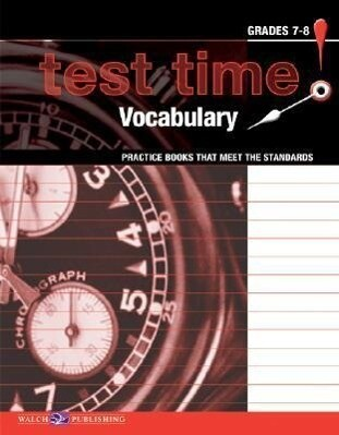 Test Time! Practice Books That Meet the Standers: Vocabulary als Taschenbuch