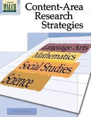 Content-Area Research Strategies als Taschenbuch