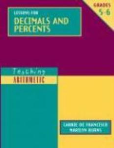 Lessons for Decimals and Percents, Grades 5-6 als Taschenbuch