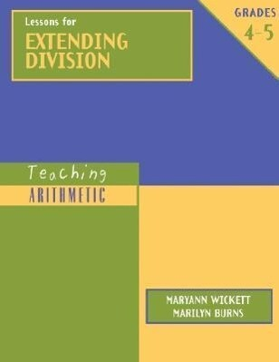 Lessons for Extending Division, Grades 4-5 als Taschenbuch