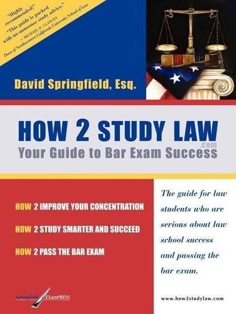 How 2 Study Law als Taschenbuch