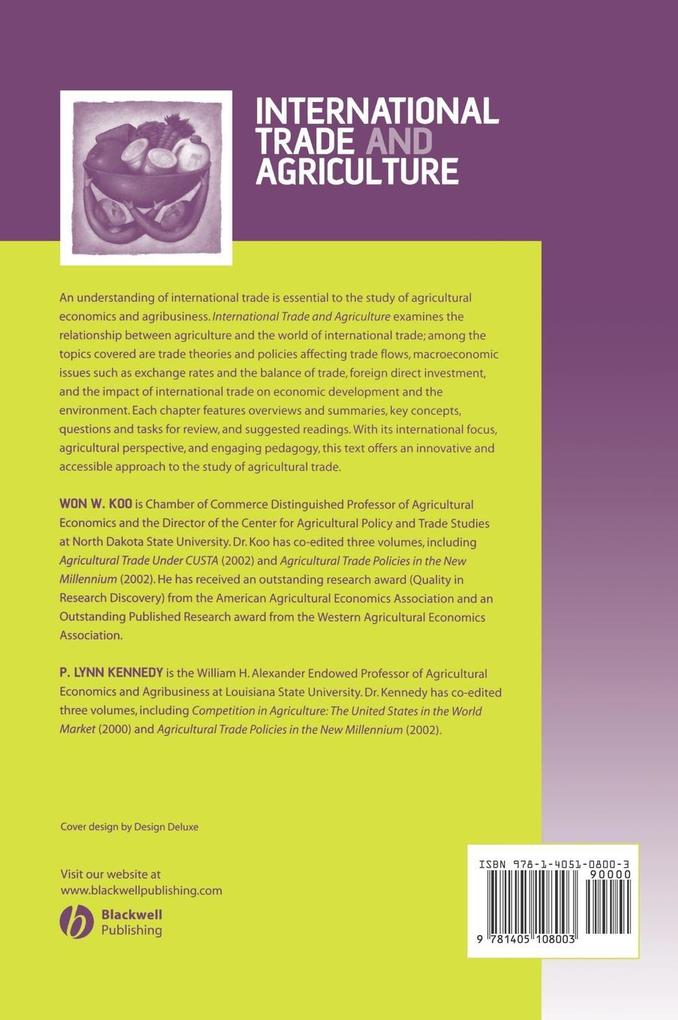 INTL TRADE AND AGRICULTURE als Buch
