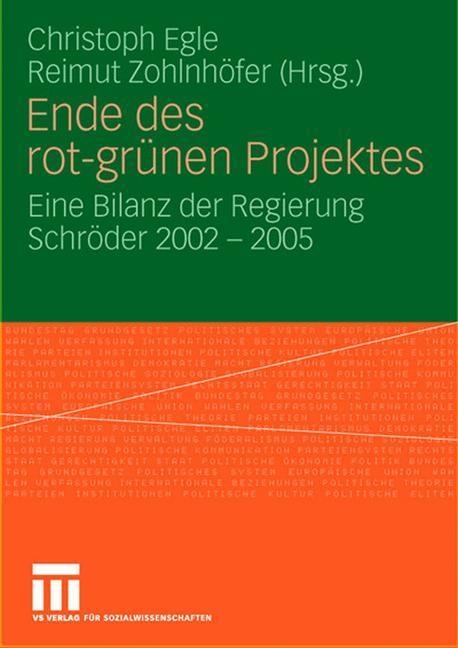 Ende des rot-grünen Projekts als Buch