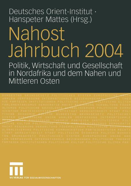 Nahost Jahrbuch 2004 als Buch