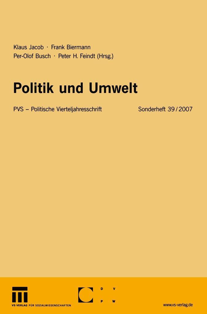 Politik und Umwelt als Buch