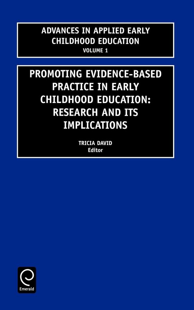 Promoting Evidence-Based Practice in Early Childhood Education als Buch