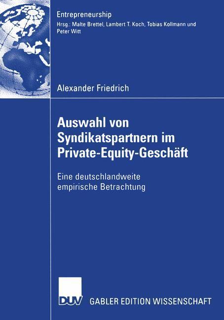 Auswahl von Syndikatspartnern im Private-Equity-Geschäft als Buch