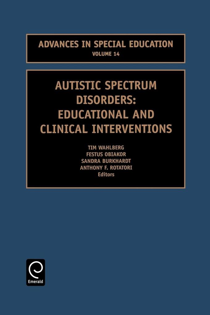 Autistic Spectrum Disorders als Taschenbuch