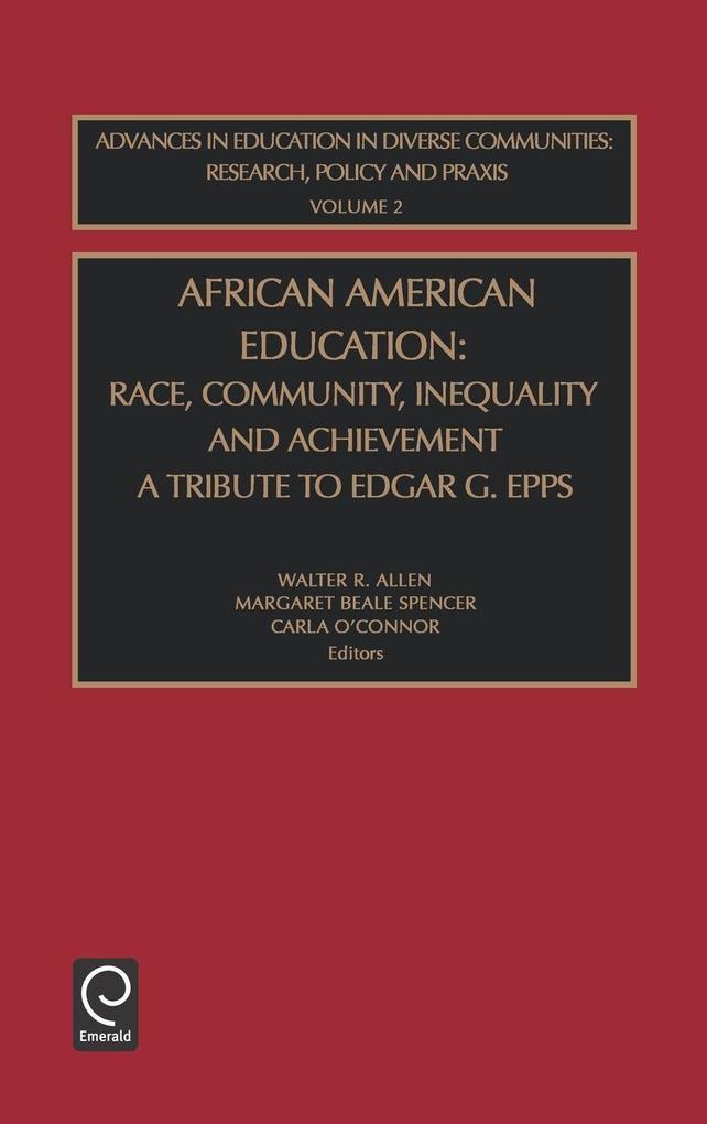 African American Educ Aedc2h als Buch