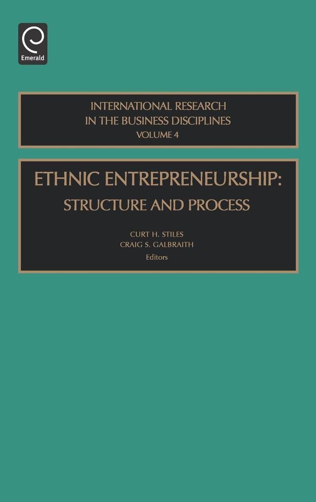 Ethnic Entrepreneurship Irbd4h als Buch