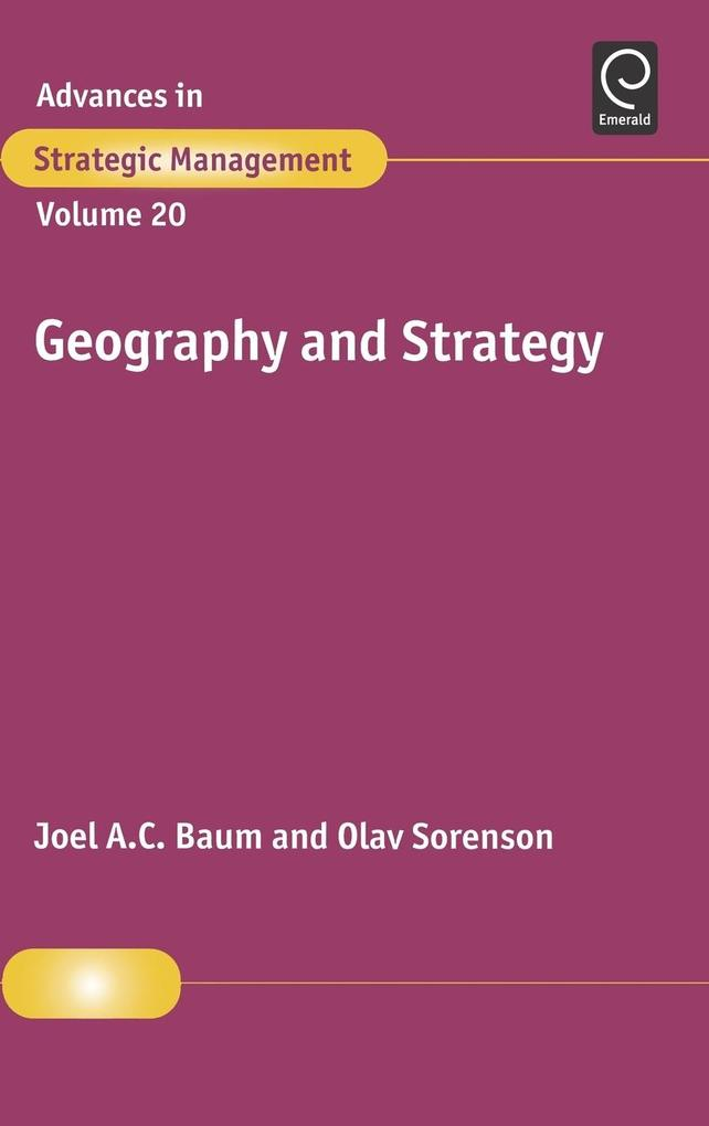 Geography and Strategy als Buch