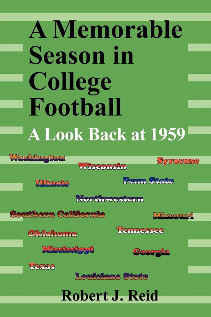 A Memorable Season in College Football als Taschenbuch