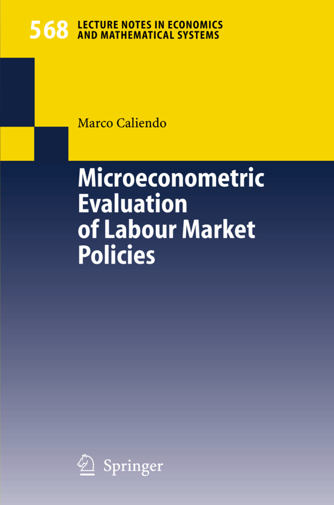 Microeconometric Evaluation of Labour Market Policies als Buch