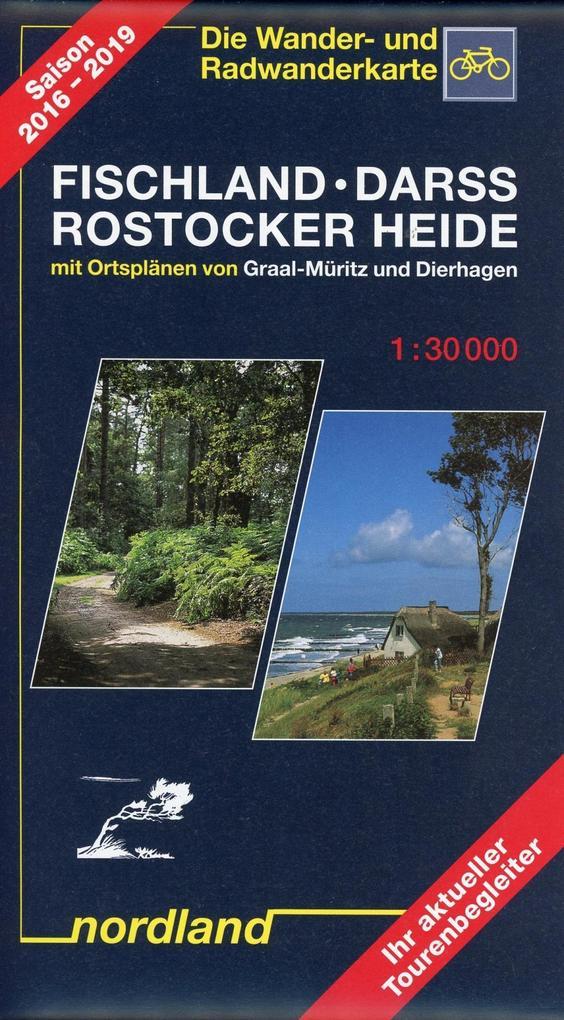 Fischland, Darss, Rostocker Heide 1 : 30 000. Wander- und Radwanderkarte als Buch
