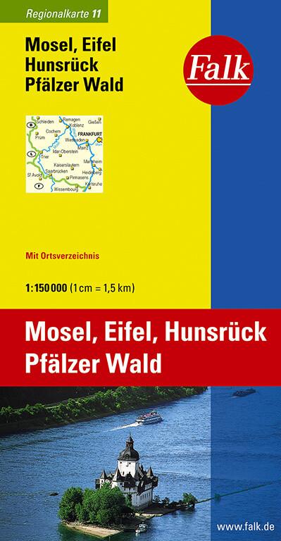 Falk Regionalkarte 11. Mosel, Eifel, Hunsrück, Pfälzer Wald 1 : 150 000 als Buch