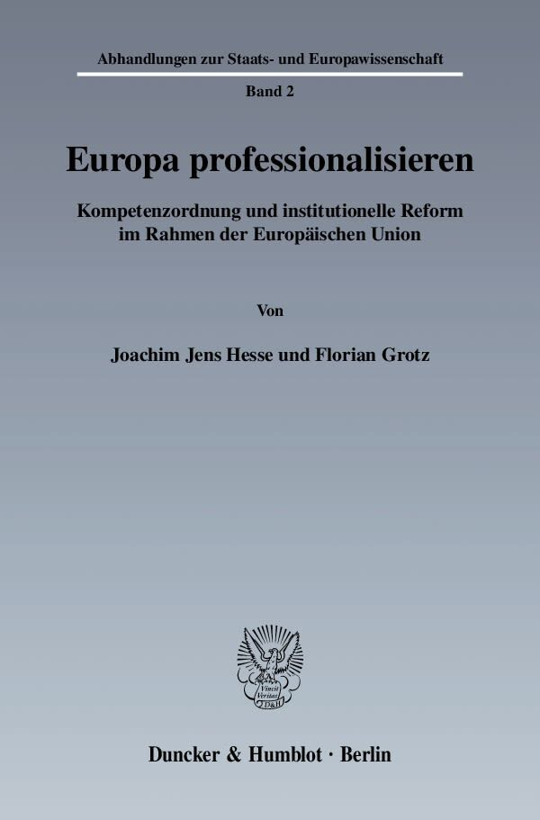 Europa professionalisieren als Buch