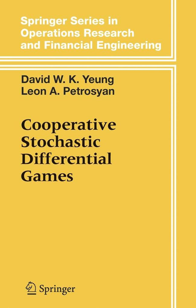 Cooperative Stochastic Differential Games als Buch