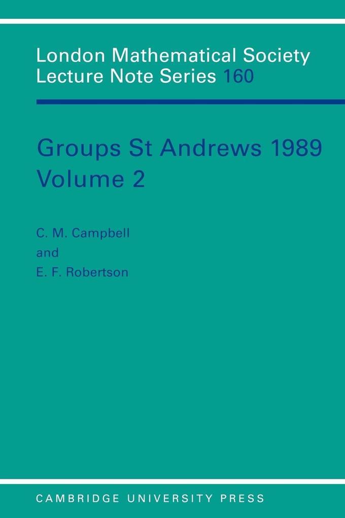 Groups St Andrews 1989: Volume 2 als Buch