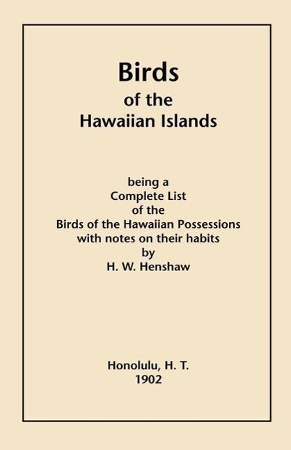 Birds of the Hawaiian Islands als Taschenbuch