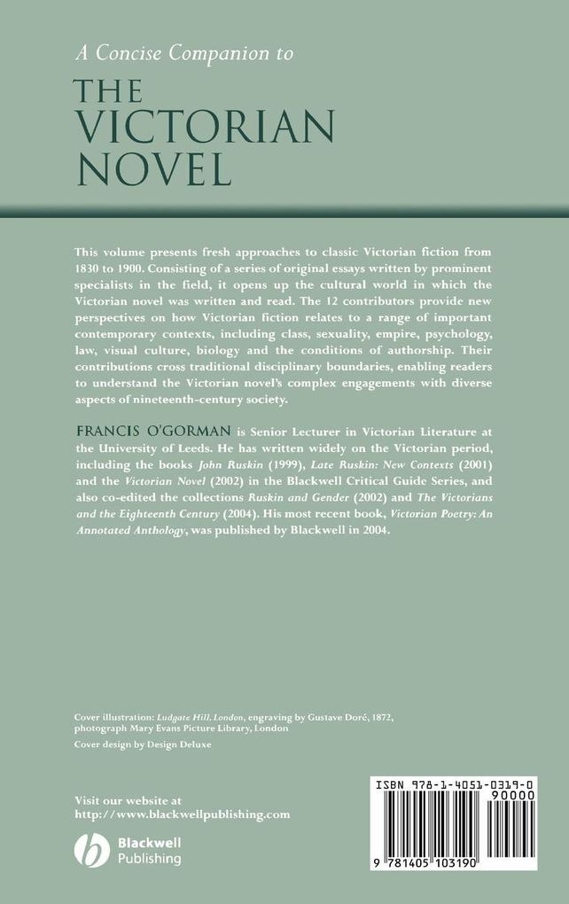 Concise Companion to the Victorian Novel als Buch