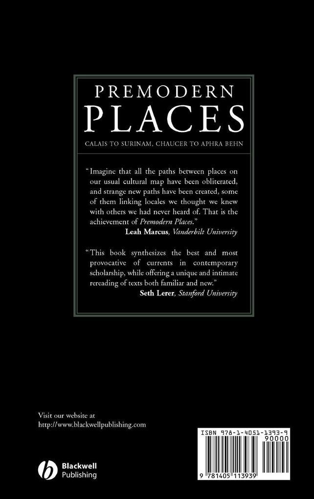 Premodern Places als Buch