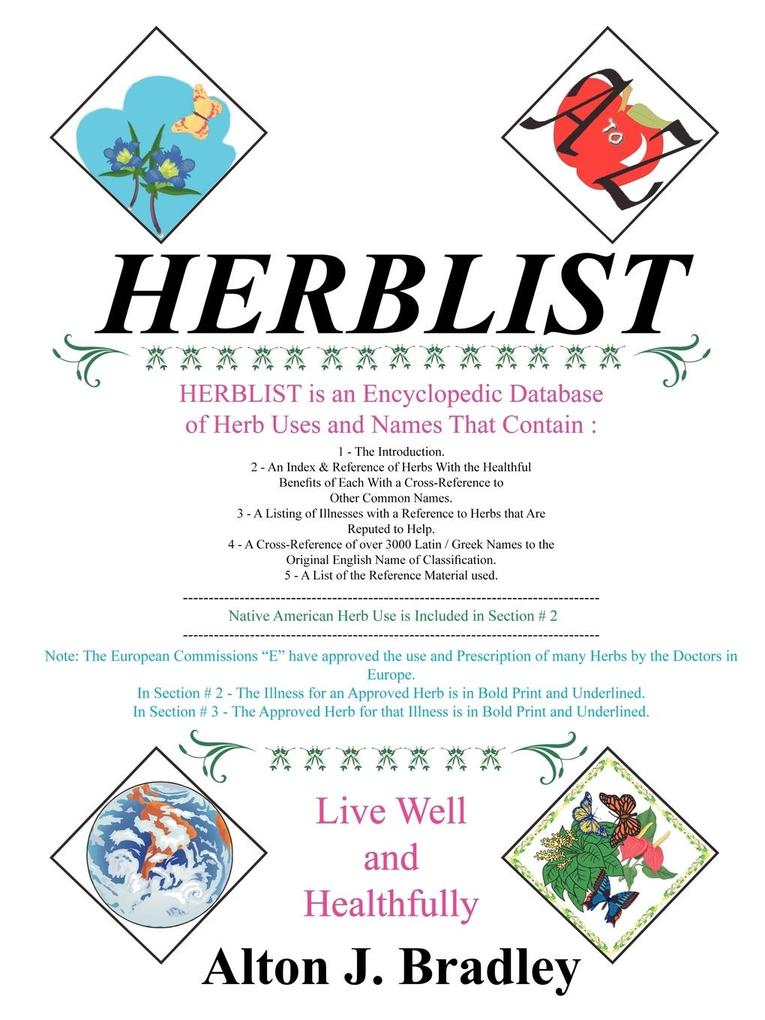 Herblist als Taschenbuch