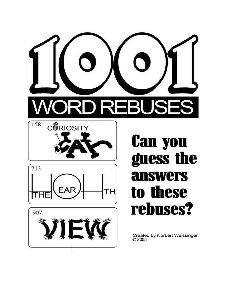 1001 Word Rebuses als Taschenbuch