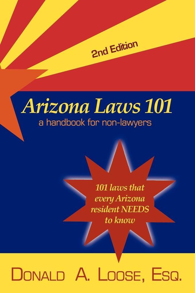 Arizona Laws 101 als Taschenbuch