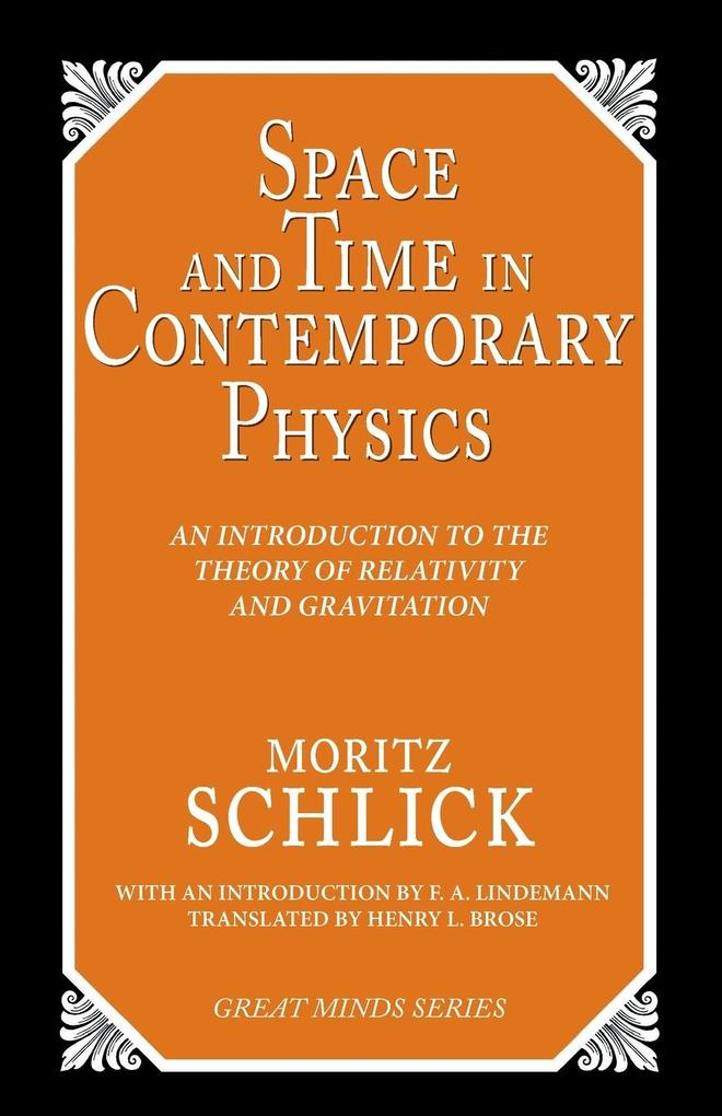 Space and Time in Cotemporary Physics: An Introduction to the Theory of Relativity and Gravitation als Taschenbuch
