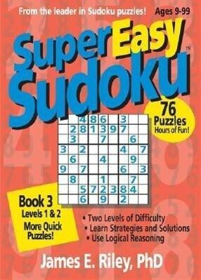 Super Easy Sudoku: Book 3, Levels 1 & 2 als Taschenbuch