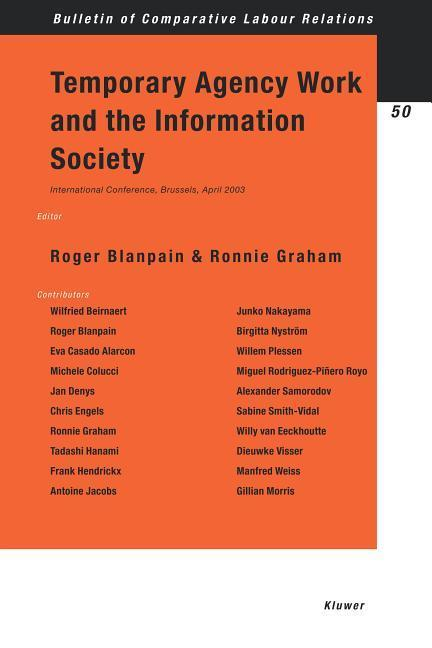 Temporary Agency Work and the Information Society als Buch